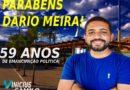 Mensagem de Vinícius Camilo pelos 59 anos de emancipação política da cidade de Dário Meira